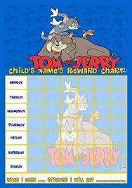 Tom Jerry 24 Personalised Gloss Birthday Party Stickers