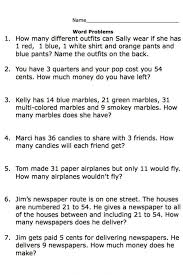 Kids : Second Grade Math Word Problems Share The Treasure 2ans ...