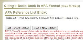 using knightcite to create a citation you will need to copy the finished citation and paste it into your references or works cited pages