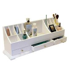 makeup organizer wood. classic interior design with large wooden makeup organizer, solid particle board wood construction, and polished organizer m