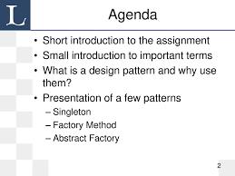 Design Patterns Lecture Design Patterns Lecture 1 Ppt Download