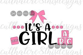 Girl Quotes And Sayings Interesting It's A Girl Pink Bows Blocks Baby R Design Bundles