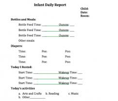baby daily report sheet daycare log sheet daycare menu templates 11 free printable pdf