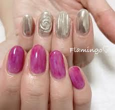 Flamingoさんのネイルデザイン Purplesilver Tredina