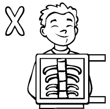Knowledge of shapes can be really empowering for your kid. X Ray Coloring Pages Coloring Home
