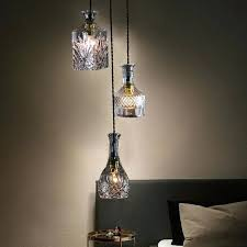 bottle pendant lights glass wine lamp bar cafe decoration hanging diy