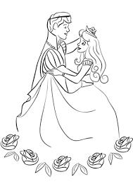 Disegno Di Principe E Principessa Che Ballano Da Colorare Disegni