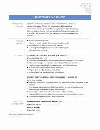 Janitor Resume Sample Elegant Resume Food Industry Resume Examples