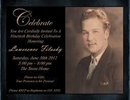 Free 90th Birthday Invitations Birthday Invitation Examples