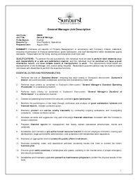 Regional Sales Manager Job Description General Manager Job Code