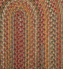 blue ridge wool oval braided rug 2 x 3