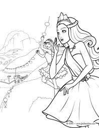 Un Coloriage De Barbie Princesse Avec Keira Et Tory Qui Viennent