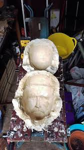 plaster moulds for paper mache cleaned and ready