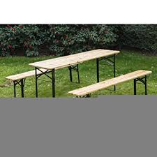 beer garden table. Outsunny 6ft Wooden German Style Folding Picnic Beer Garden Table Set W/Benches E