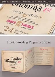 20 Elegant Wedding Program Templates