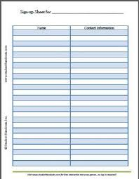 sign in sheet pdf free printable blank sign up sheet pdf file k 12 education and
