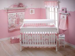 charming alluring white cinderella crib bedding and pink wall plus window