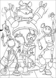 Kids N Fun Kleurplaat Robots Robots