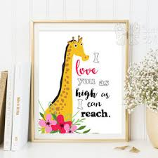 Giraffe Quotes Adorable Nursery Quotes Wall Decor I Love You Wall From ButterflyWhisper