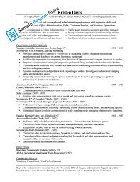 administrative assistant duties on resume