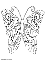 Butterfly coloring pages, sheets and pictures are fun, but they also help kids develop many important skills. 30 Butterfly Coloring Pages For Adults New