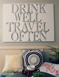 ART IS BEAUTY: DIY Quote ART without a cutting machine . Drink Well Travel  OFTEN