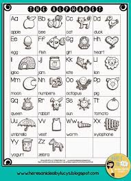 Free B W English Alphabet Chart Have Kids Color The