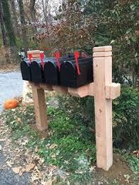 double mailbox post plans. Multiple Mailbox Post Double Plans