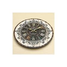 large wood wall clock tower vintage rustic shabby home office cafe bar decor art
