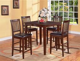 high kitchen table set. Brown Wooden Tall Kitchen Table Sets Small Square High Set N