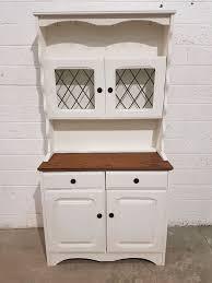 shabby chic 2 piece welsh dresser in rustoleum chalk white chalk paint 1047