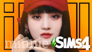 심즈 4] The Sims 4 CAS : (G)I-DLE MINNIE | PYONGSIMS - YouTube