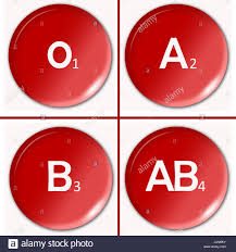 Human Blood Type Or Group Classification Chart Illustration
