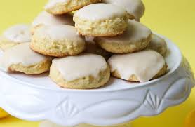 Glazed Soft Baked Almond Flour Lemon Cookies Kitchen Treaty