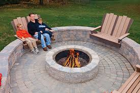 ep henry 6 rustic double face wall and fire pit rustic cobble stone
