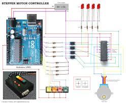 stepper motor wiring diagram perfect diy stepper controller using arduino