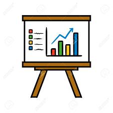 Chart Cartoon Cartoon Graph Or Chart Vector Illustration
