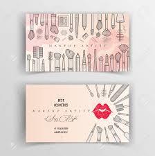 makeup artist business card vector template stock vector 102881536