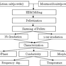Mmt Chart Schematic Flow Chart Of Synthesis And Characterization Of Li