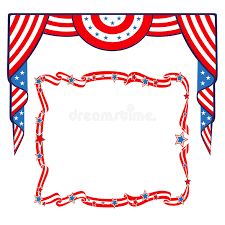patriotic invitations templates us flag patriotic border template stock vector illustration of
