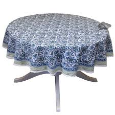Table Cloth For Round Table 70 Round Chloe Blue Green Cotton Tablecloth By Clm Cotton I