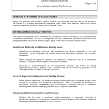 sample resume for veterinary assistant resume resume veterinary technician