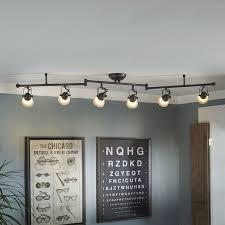 Dining Room Track Lighting Shop Allen Roth Tucana 6 Light Bronze Fixed Track Light