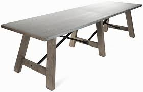 nobby design zinc top dining table 36 round 54 with diy hammered colorado