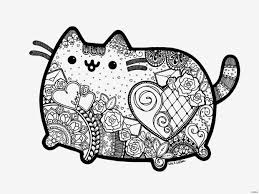 Pusheen The Cat Coloring Pages Csengerilawcom
