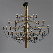 large chandelier with 50 lights by gino sarfatti