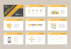 Slide Desigh Abstract Presentation Slide Template Design Background With Infographic