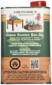 Kitchen Garden Preserves Amazoncom Gronomics Gbo1q Cedar Garden Bed Oil 1 Quart