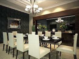 Attractive Wall Mirrors For Dining Room Also White Armchairs Two