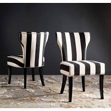 black and white striped furniture. safavieh en vogue dining matty black and white striped chairs set of 2 furniture a